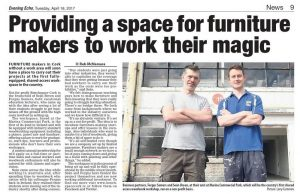 Evening Echo, Benchspace to open in Cork